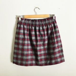 J. Crew Factory Wool Sidewalk Skirt in Plaid